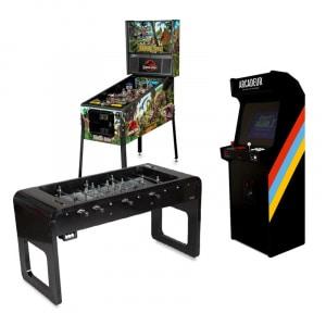 Pack baby-foot Smartline Stella + flipper + borne d'arcade