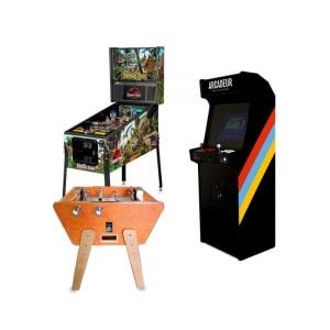 Pack baby-foot Toi et Moi Stella + flipper + borne d'arcade
