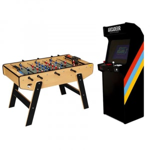 Pack borne d'arcade au choix sans monnayeur + baby-foot Stella Club