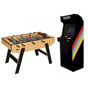 Pack borne d'arcade au choix avec monnayeur + baby-foot Stella Club