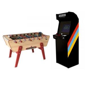 Pack borne d'arcade au choix sans monnayeur + baby-foot Champion Stella