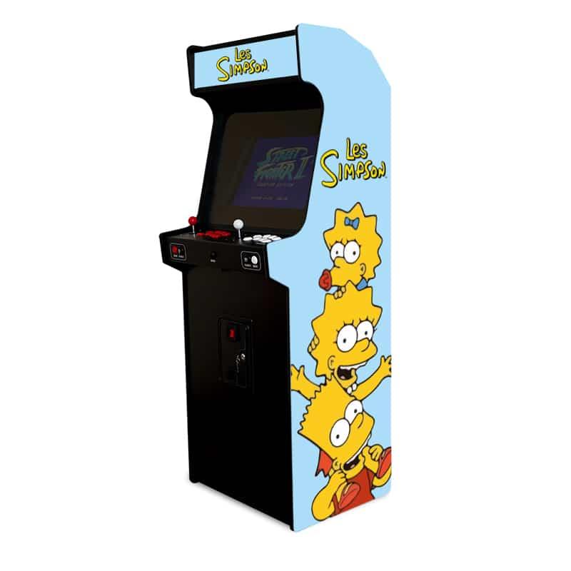 borne d'arcade les simpsons